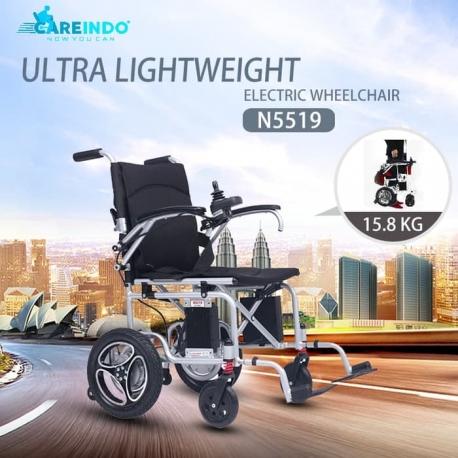 Kursi Roda Elektrik Paling Ringan Careindo N5519 Garansi Resmi